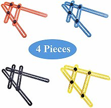 4 Pieces Measuring Ruler Tool, Multi-Angle