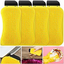 4 Pieces Multi-functional Silicone Sponge Scrubber