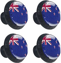 4 Pieces New Zealand Flag Drawer Knobs Pull Handle