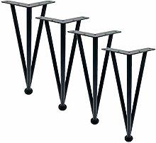 4 Pieces of Furniture Feet Adjustable Metal