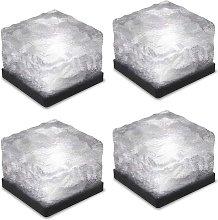 4 pieces of ice brick light, IP68 waterproof ice