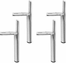 4 Pieces of Metal Furniture Feet Furniture Legs