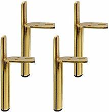 4 Pieces of Metal Furniture Feet Golden Furniture