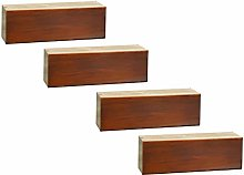 4 Pieces of Wood Sofa Couch Legs Furniture Feet