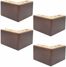 4 Pieces Pine Sofa Legs,Triangle Cabinet