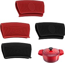 4 Pieces Silicone Hot Pan Handle Holder, Heat
