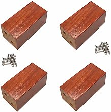 4 Pieces Solid Oak Furniture Legs, Replacement