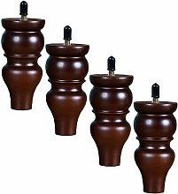 4 Pieces Solid Wood Furniture Legs Dresser Legs