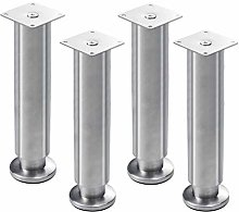 4 Pieces Stainless Steel Furniture Legs Adjustable