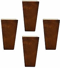 4 Pieces Wood Cabinet Legs Furniture Feet Square