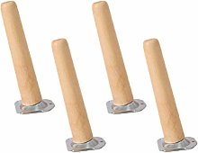 4 Pieces Wood Furniture Feet Round Shape Furniture