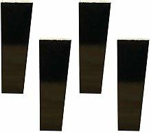 4 Pieces Wood Furniture Feet Trapezoid Furniture