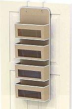 4 Pocket Over Door Wall Mount Hanging Organizer