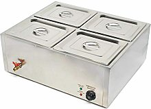 4 Pots Commercial Bain Marie Catering Wet Well Wet