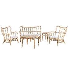 4 Seater Rattan Garden Sofa Set Beige BRINDISI