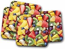 4 Set - Fruit Salad Coaster - Food Restaurant Diet