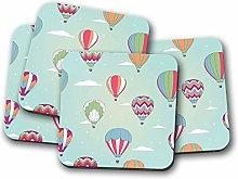 4 Set - Hot Air Balloon Coaster - Retro Mum Dad