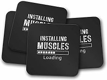 4 Set - Installing Muscles Coaster - Bodybuilding