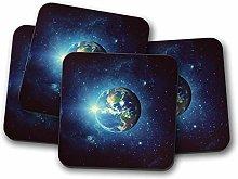 4 Set - Interstellar Earth Coaster - Space Sci-Fi