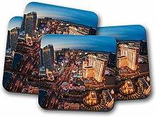 4 Set - Las Vegas USA Coaster - America Nevada