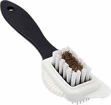 4 Sides Suede Brush, Multifunctional Nubuck Brass