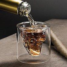 4 Sizes Skull Head Wine Glass Mug Crystal Beer