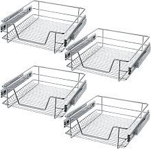 4 Sliding wire baskets with drawer slides - 47 cm