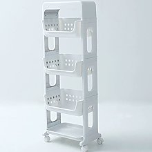 4 Tier bathroom storage trolleys floor
