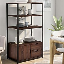 4-Tier Bookcase with 2 Large Drawers amd 1