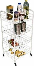 4 Tier Fruit Vegetable Cutlery Rack Storage Cart