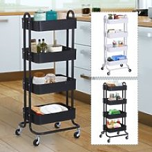 4-Tier Rolling Utility Cart Mobile Storage Trolly