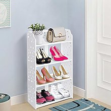 4 Tier Shoe Rack, Carved Shoe Cabinet Cupboard