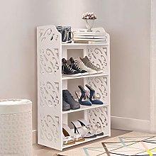 4 Tier Shoe Rack White Shoe Storage Cabinet Shoe