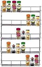 4 Tier Spice Rack Herb Jar Holder for Kitchen Door