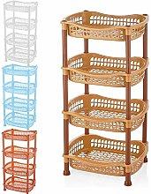 4 Tier Vegetable Fruit Storage Basket Rack Kitchen