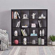 4 Tier Wooden Bookcase 16 Cube Bookshelf Free