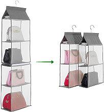4-Tiers Non-woven Detachable Closet Bags Organizer