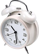 """4"""" Twin Bell Alarm Clock Battery Operated, Loud"""