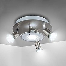 4 Way Round Plate LED Ceiling Spotlight for