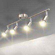 4 Way Straight Bar Ceiling Spotlight Rail, Led