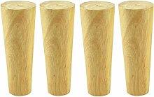 4 Wooden Furniture Legs,Straight Cone Sofa