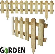 4 x 1.2m Wooden Garden Picket Fence Fencing