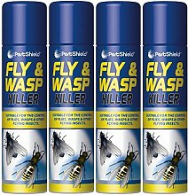 4 X 300ml Fly And Wasp Killer Spray Kills Flies