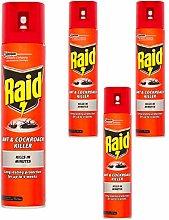 4 x 300ml Raid Ant & Cockroach Intant Killer Spray