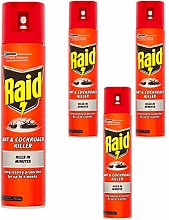4 x 300ml Raid Ant & Cockroach Intant Killer Spray