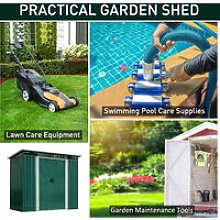 4 x 6ft Pent Roofed Metal Garden Shed House Hut