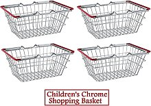 4 x Children's Kids Mini Chrome Shopping