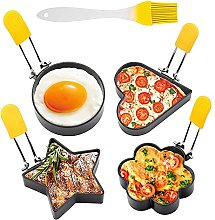 4 x egg rings in different shapes, non-stick