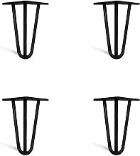 4 x Hairpin Legs from DT IRONCRAFT - 10cm 3 Rod /