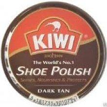 4 X Kiwi Shoe Polish Dark Tan 50ml